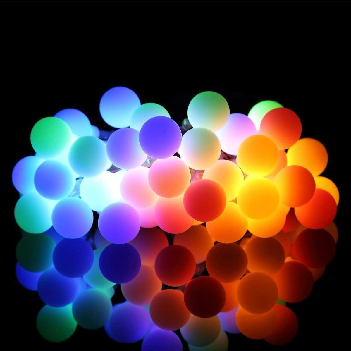 LIGHTED PARTY SPARKLE BALL Steady On or Flashing! 100 Multi Color Mini Lights