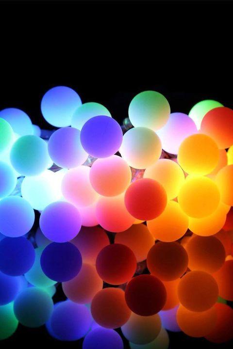 led multicolor ball lights