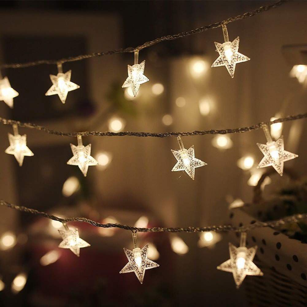 Christmas Lighting.Twinkle Star String Lights