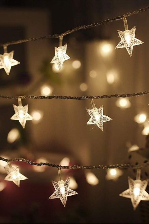 twinkle star string lights - How To Decorate Your House With Christmas Lights