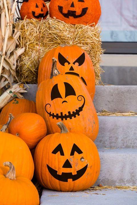 3 Pumpkin Face Stickers Etsy Amandadesigndecals