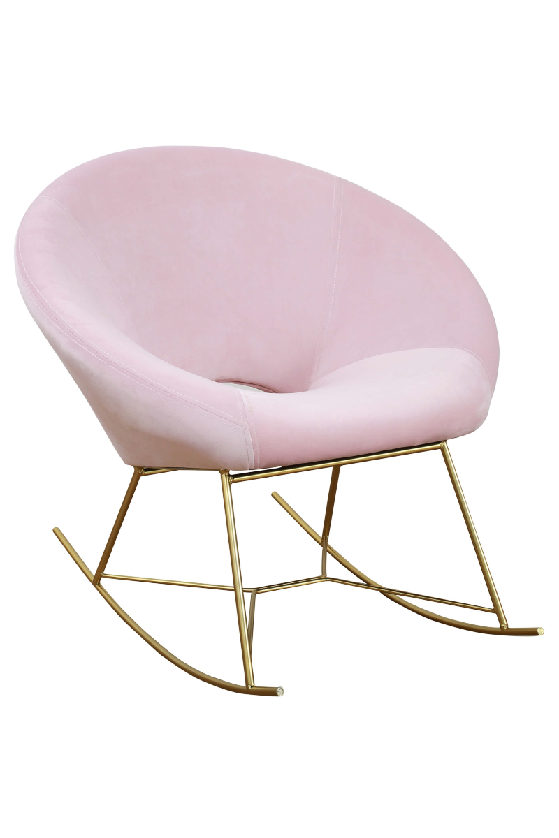 Phenomenal Blush Nolan Rocking Chair Creativecarmelina Interior Chair Design Creativecarmelinacom