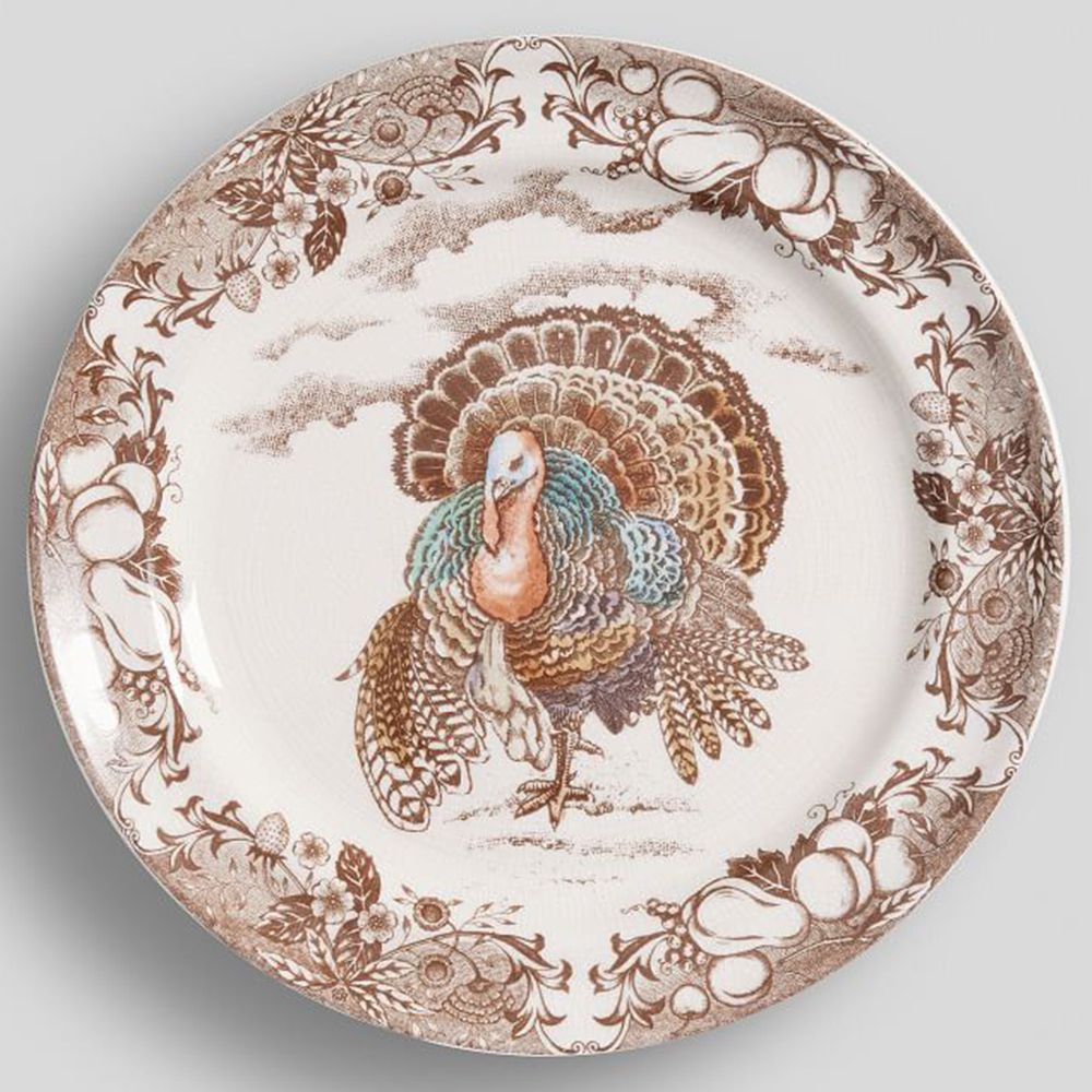 3 Traditional Turkey Dinner Plate Set Of Four