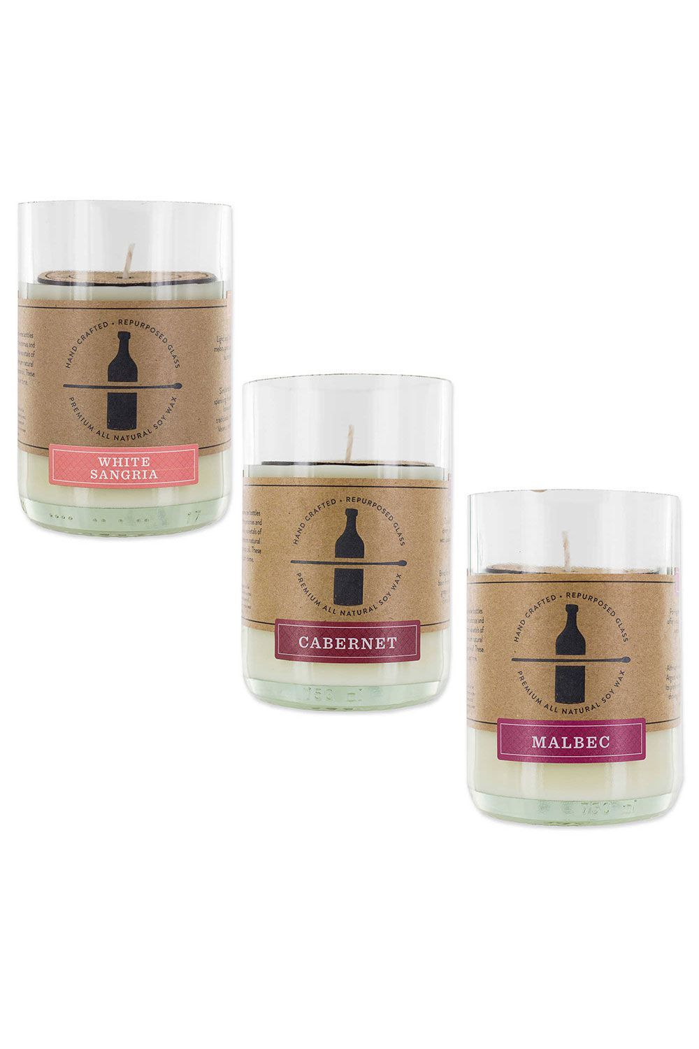 Wine Scented Soy Wax Candle Collection