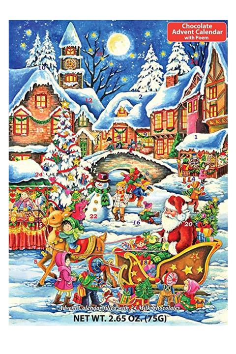 Vermont Christmas Company Santa S Here Chocolate Advent Calendar Courtesy