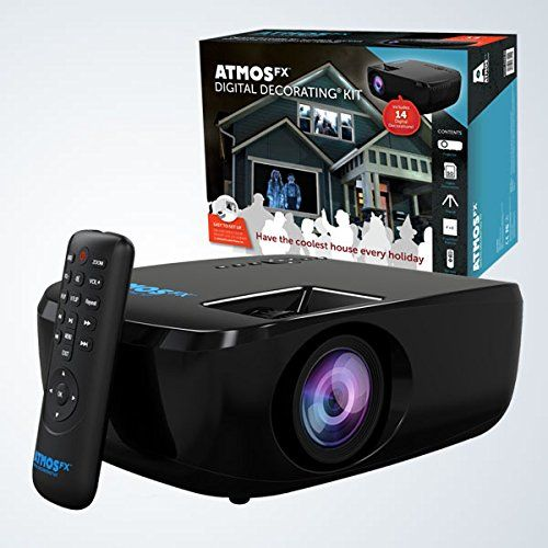 atmosfx digital decorating kit scary halloween 3 d projector