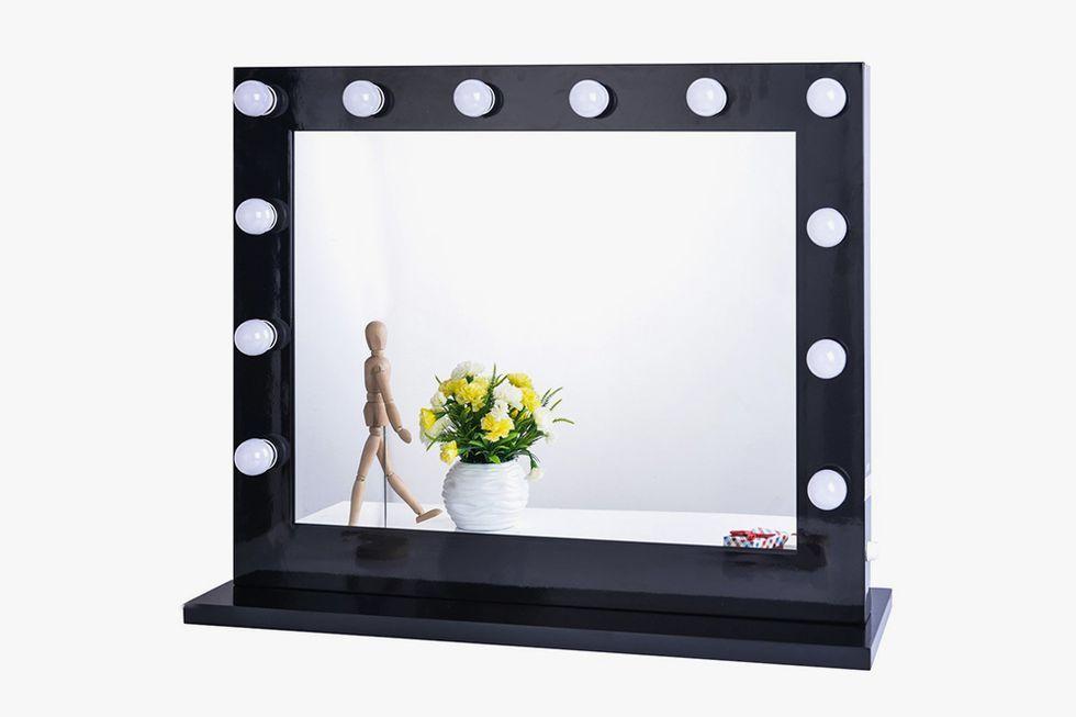 Chende Black Hollywood Lighted Makeup Vanity Mirror