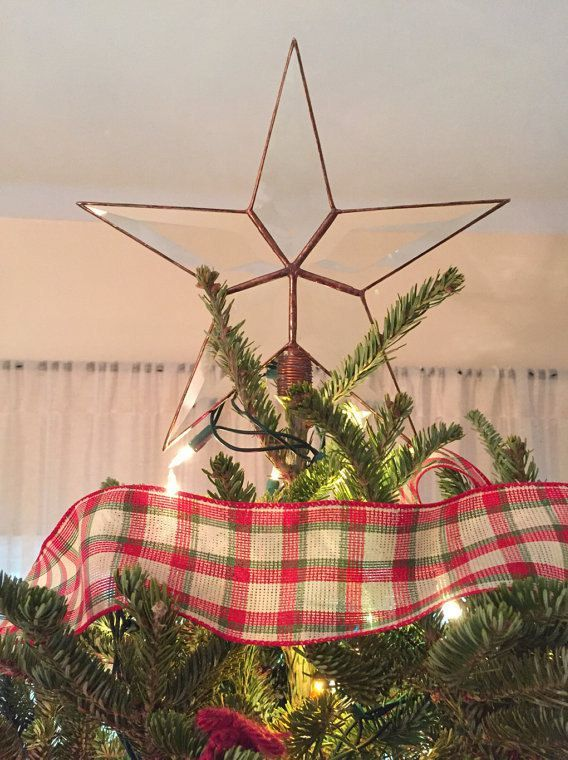 Christmas Tree Topper.Beveled Glass Star
