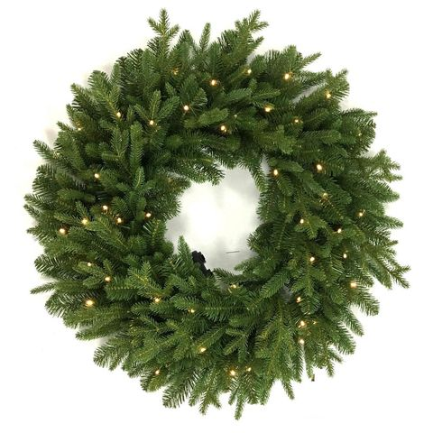 home accents holiday norway 32 inch led artificial christmas wreath - How To Decorate Artificial Christmas Wreath