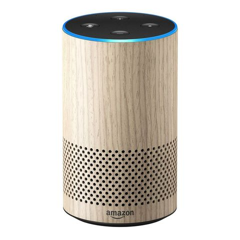 echo 2nd generation smart speaker with alexa limited edition oak finish amazoncom