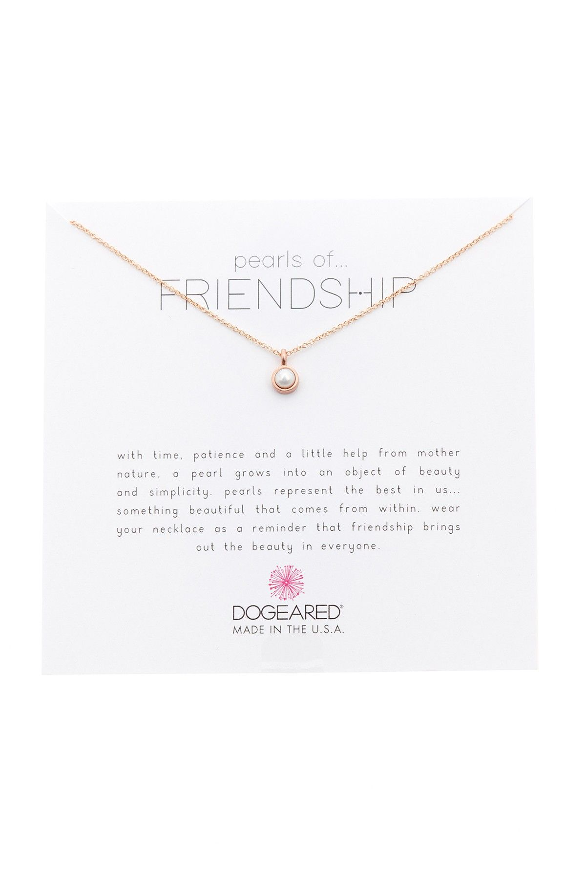 Pearls of Friendship Pendant Necklace