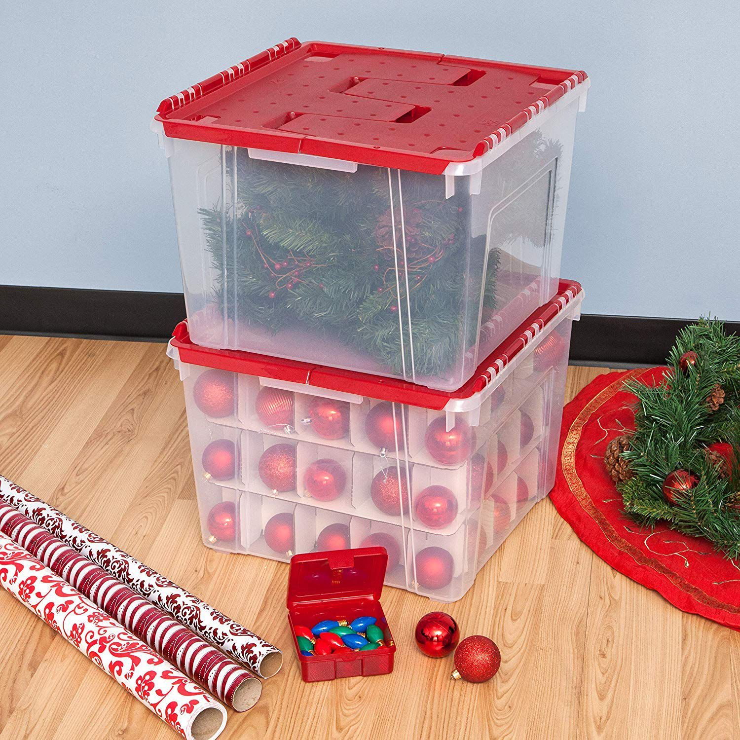 Christmas Ornament Storage.Heavy Duty Ornament Boxes