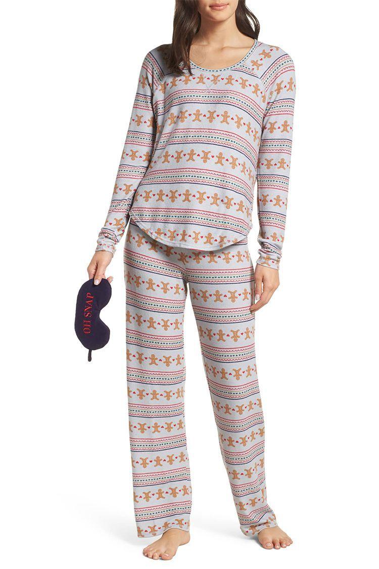 Make Model Knit Girlfriend Pajamas Eye Mask
