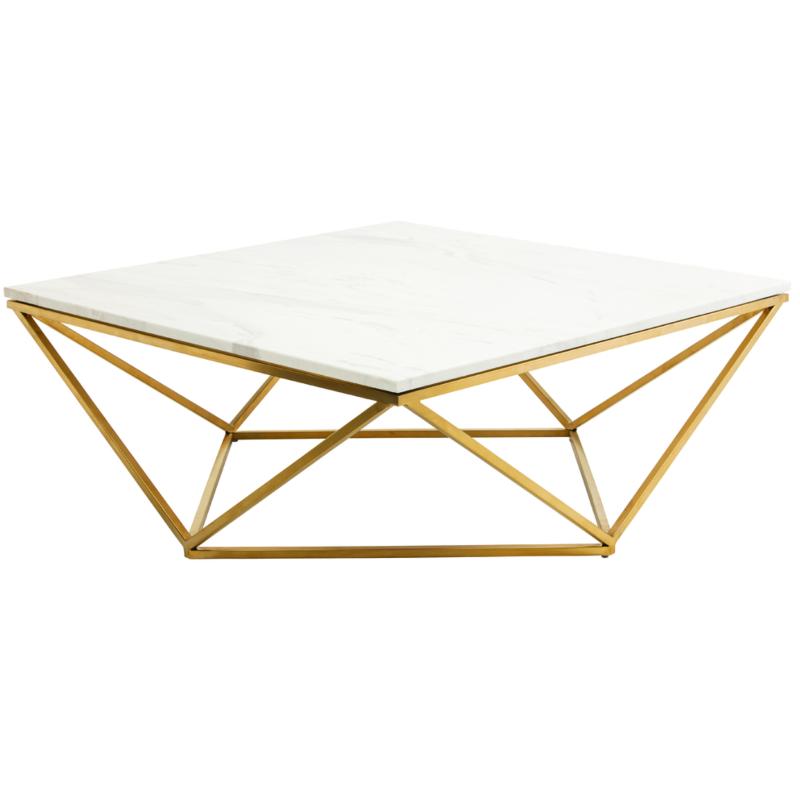 Lulu Georgias Gold Marble Coffee Table Is So Stylish Geometric
