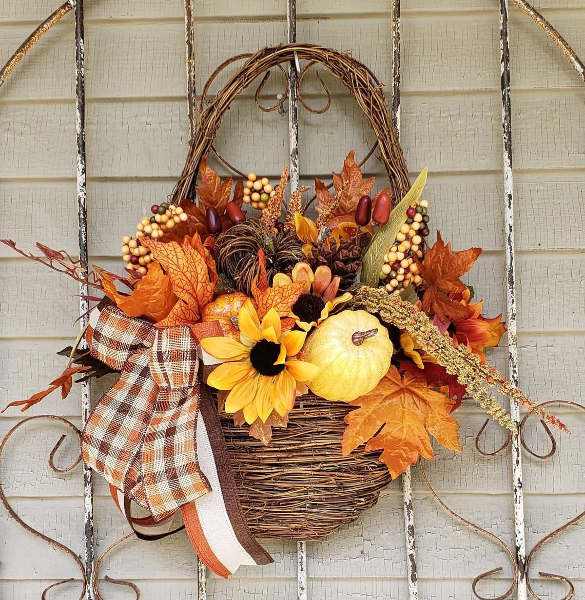 a5fbcd6b99a 30 Easy DIY Fall Wreaths - Best Homemade Wreaths for Fall