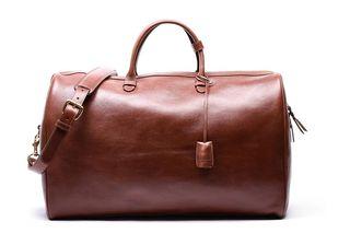 Lotuff n ° 12 leather weekend bag