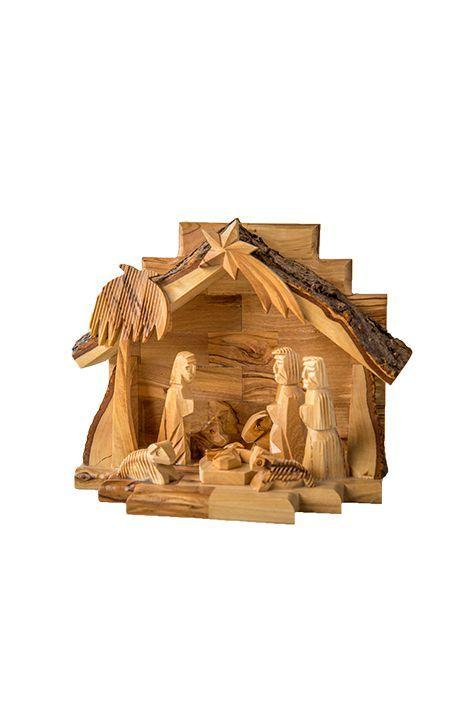 SacredGifts4U. Carved Wood Nativity Set