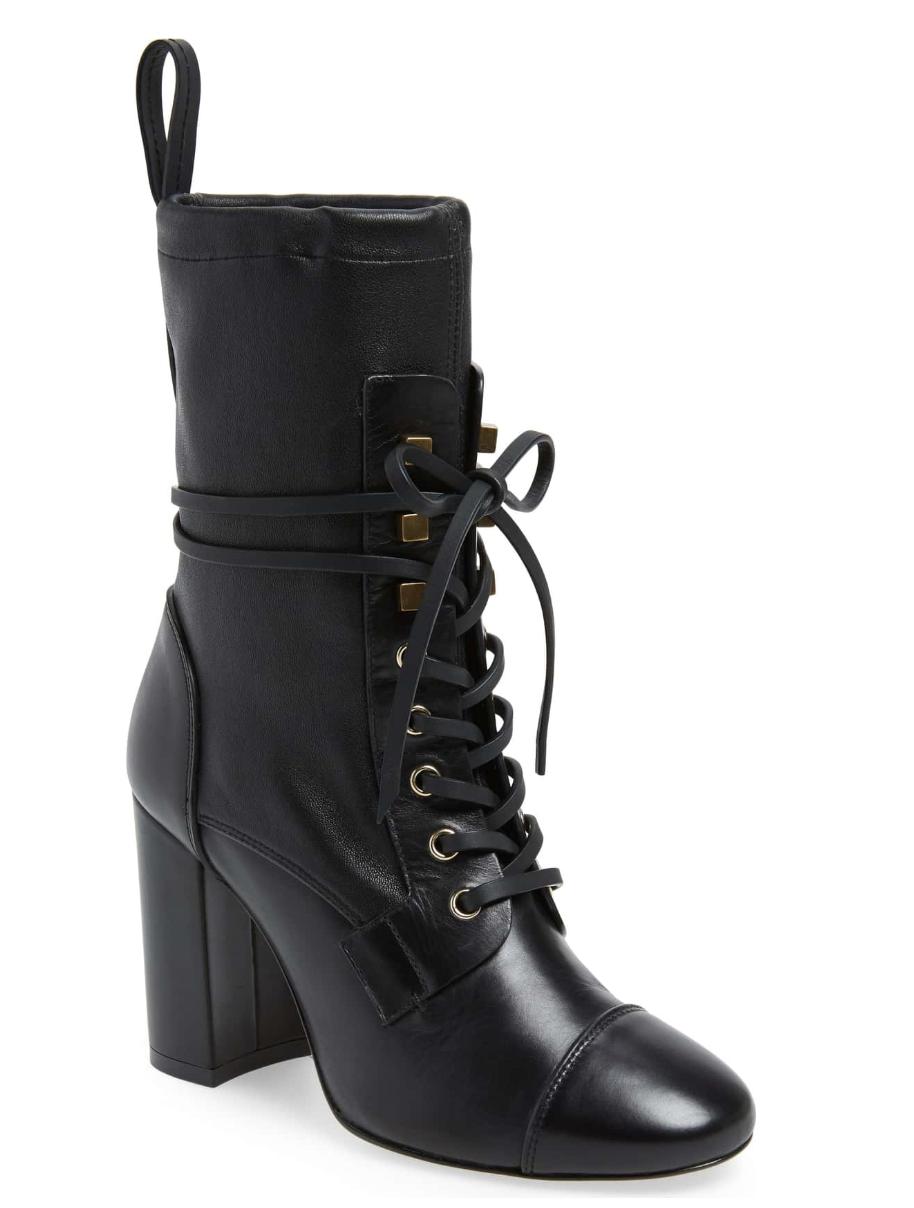Black Lace-Up Stuart Weitzman Boots