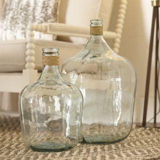 Jarra de vidro reciclado