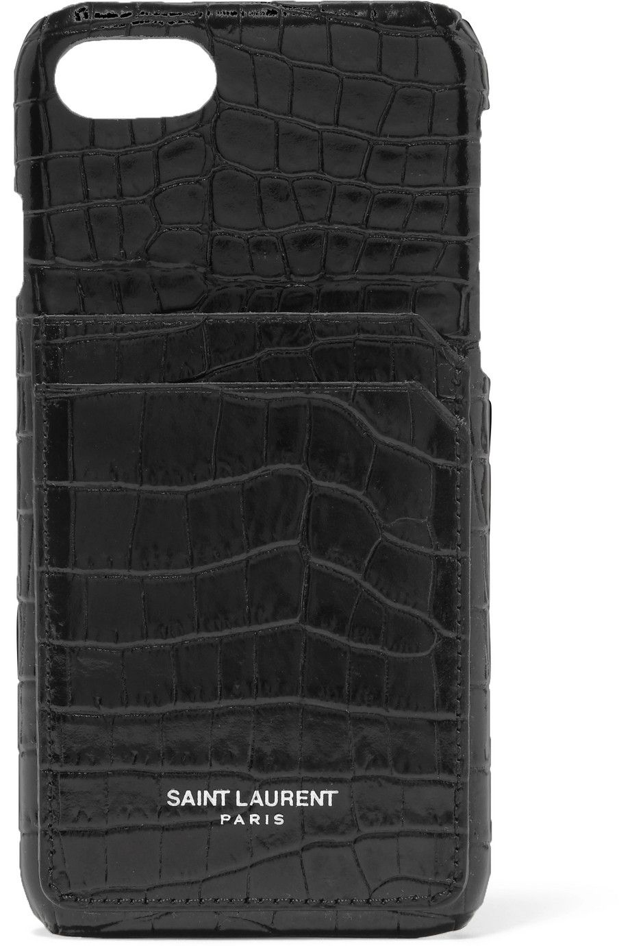 Croc-effect leather iPhone 8 case