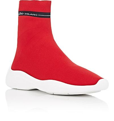 c31e604110be 5 Prada Women s Logo Knit Sock Sneakers