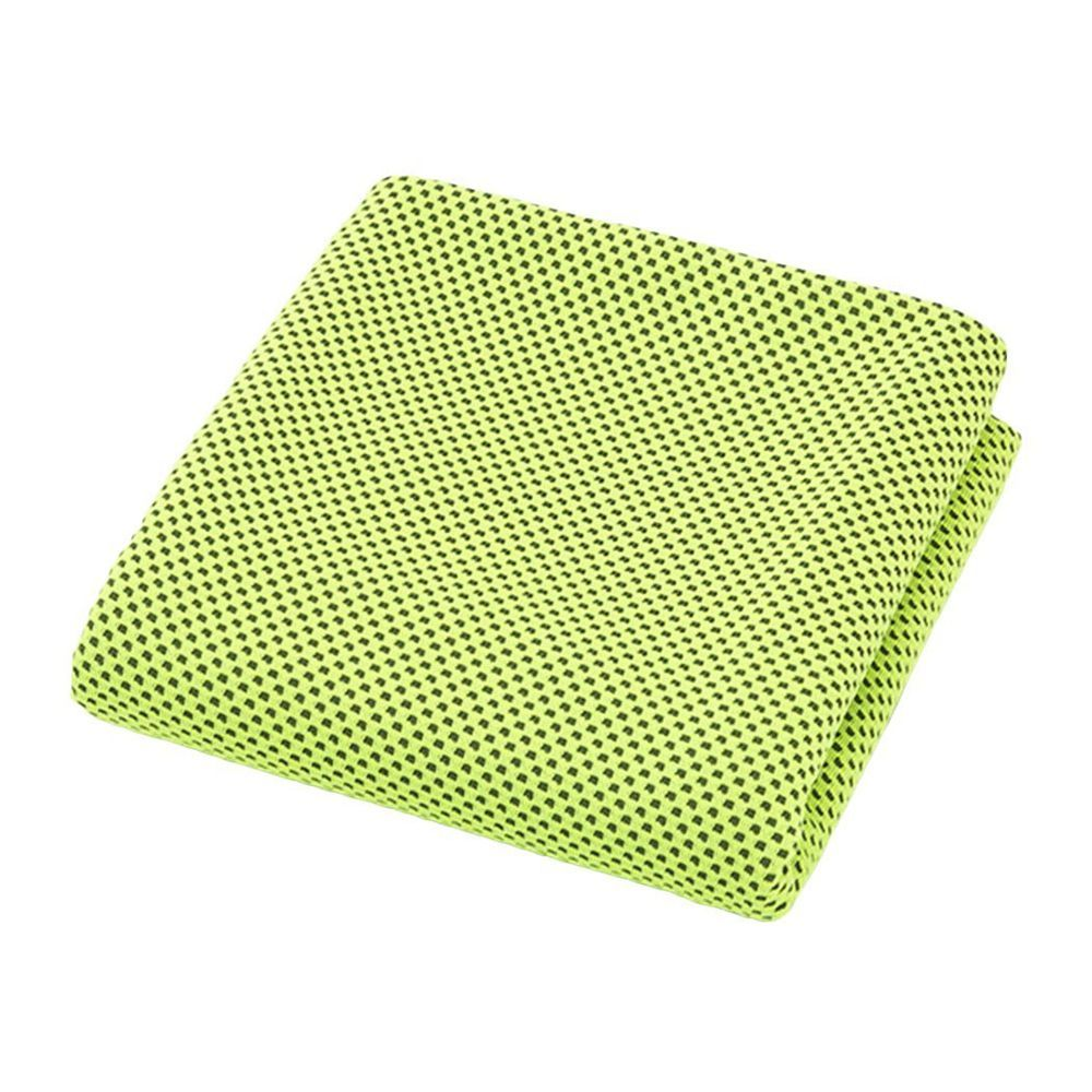 Perfect Cooling Towel Green Color Stay Cool For Hours Sports Running New Yellow Sporting Goods