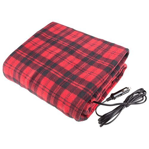 Red And Black Electric Heated Car Blanket