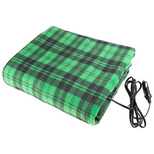 Green And Black Electric Heated Car Blanket