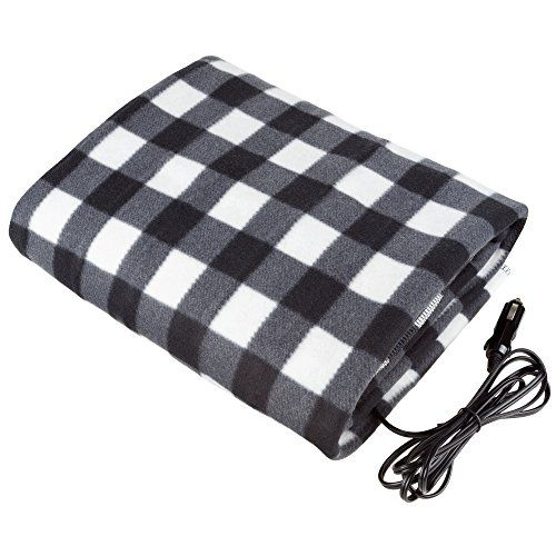 Black And White Electric Heated Car Blanket