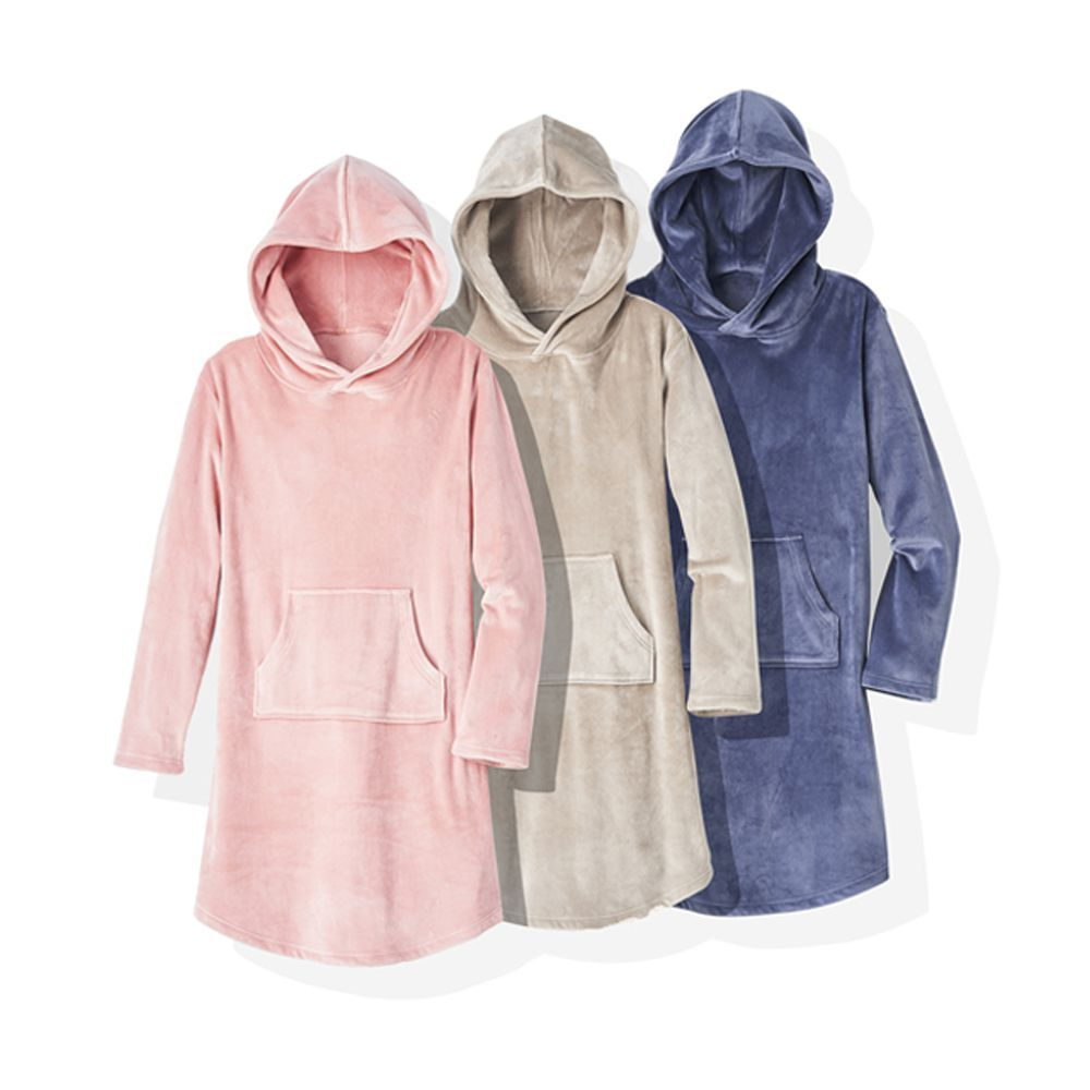 Softies Women's Ultra Soft Hooded Snuggle Lounger
