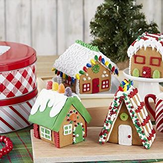 welcome to christmas mini village - Gingerbread House Christmas Decorations