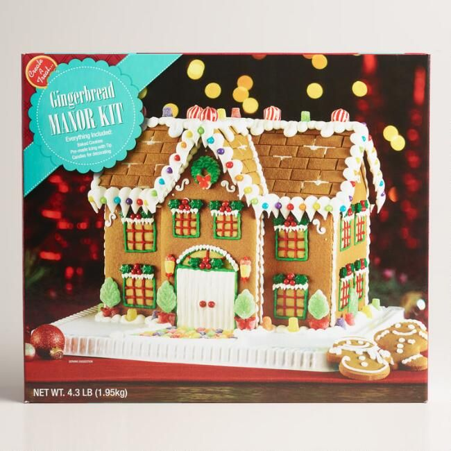 Christmas Gingerbread House.Manor Gingerbread House Kit