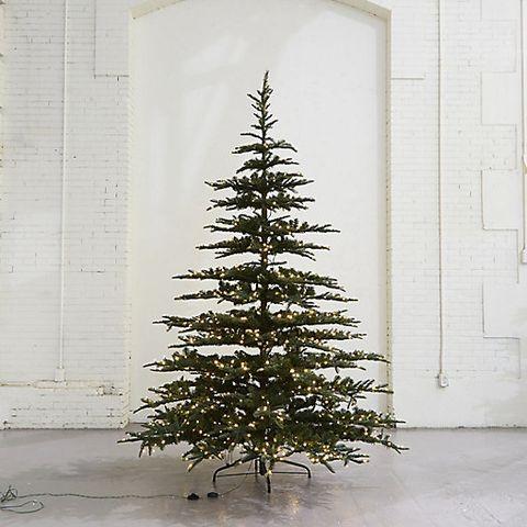 pre lit led faux noble fir