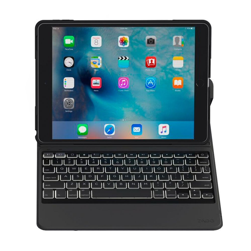 ZAGG Rugged Messenger Keyboard Case for Apple iPad (9 7-Inch)