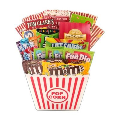 movie night christmas gift basket