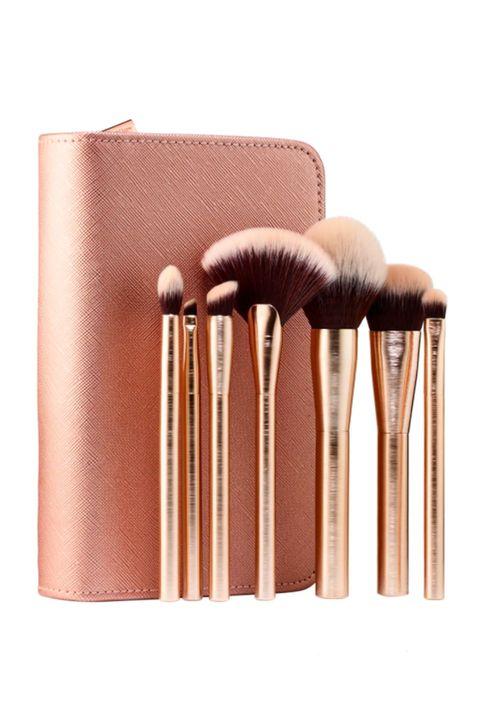 1 Rose Gold Makeup Brush Set