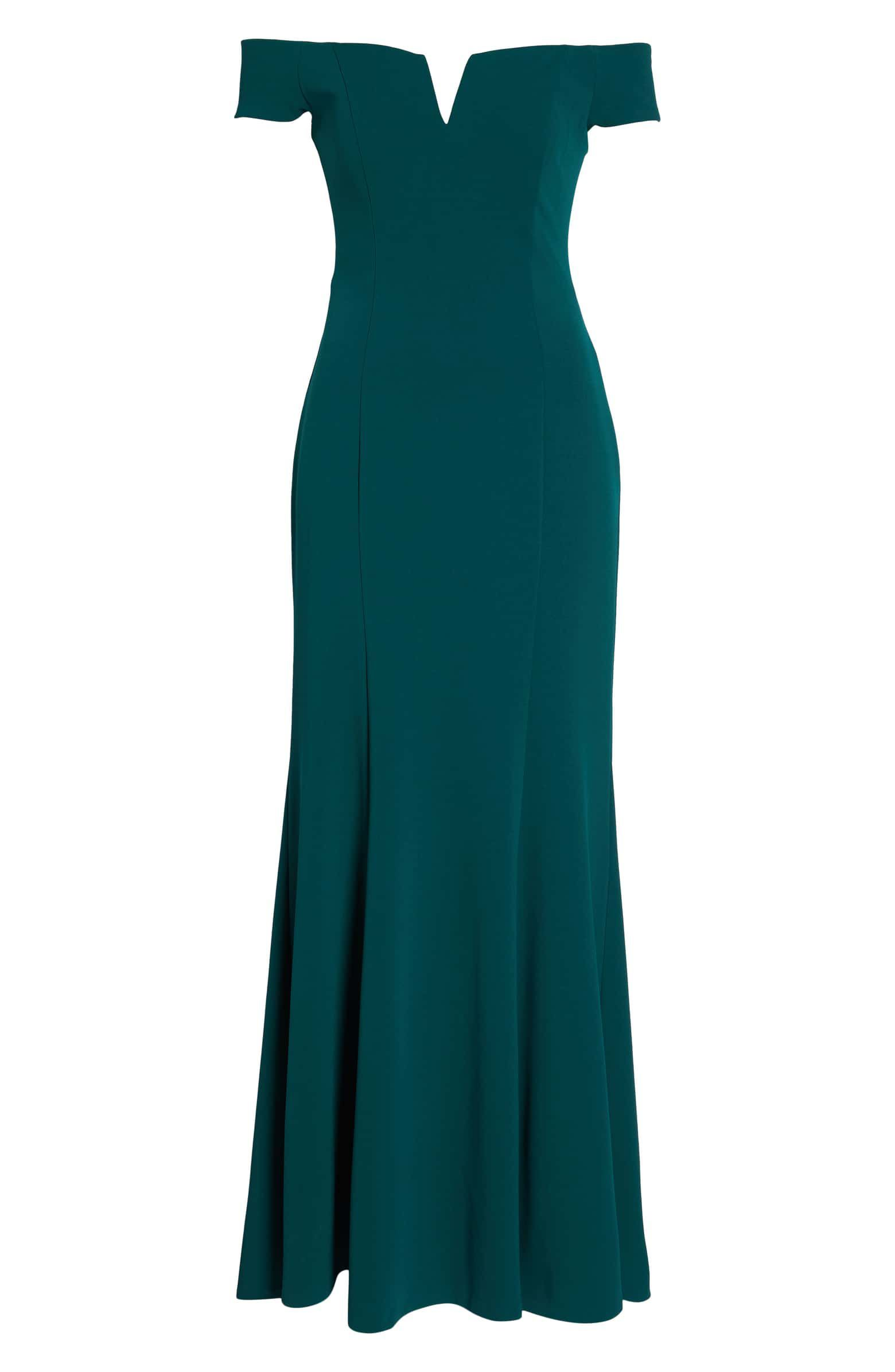 772836c86a Vince Camuto Notched Trumpet Gown