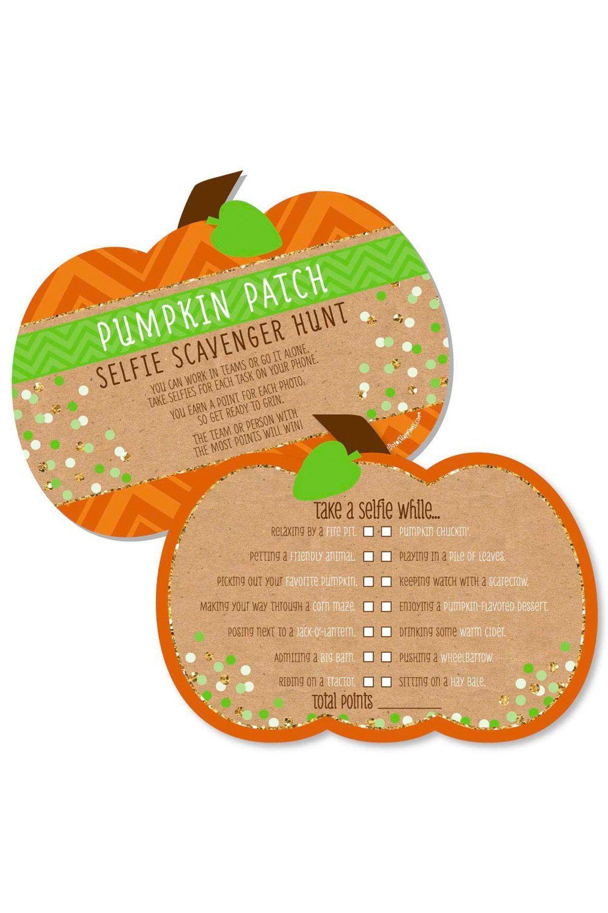 Pumpkin Patch Selfie Scavenger Hunt