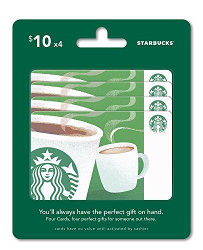 Starbucks Gift Cards Pack Of 4