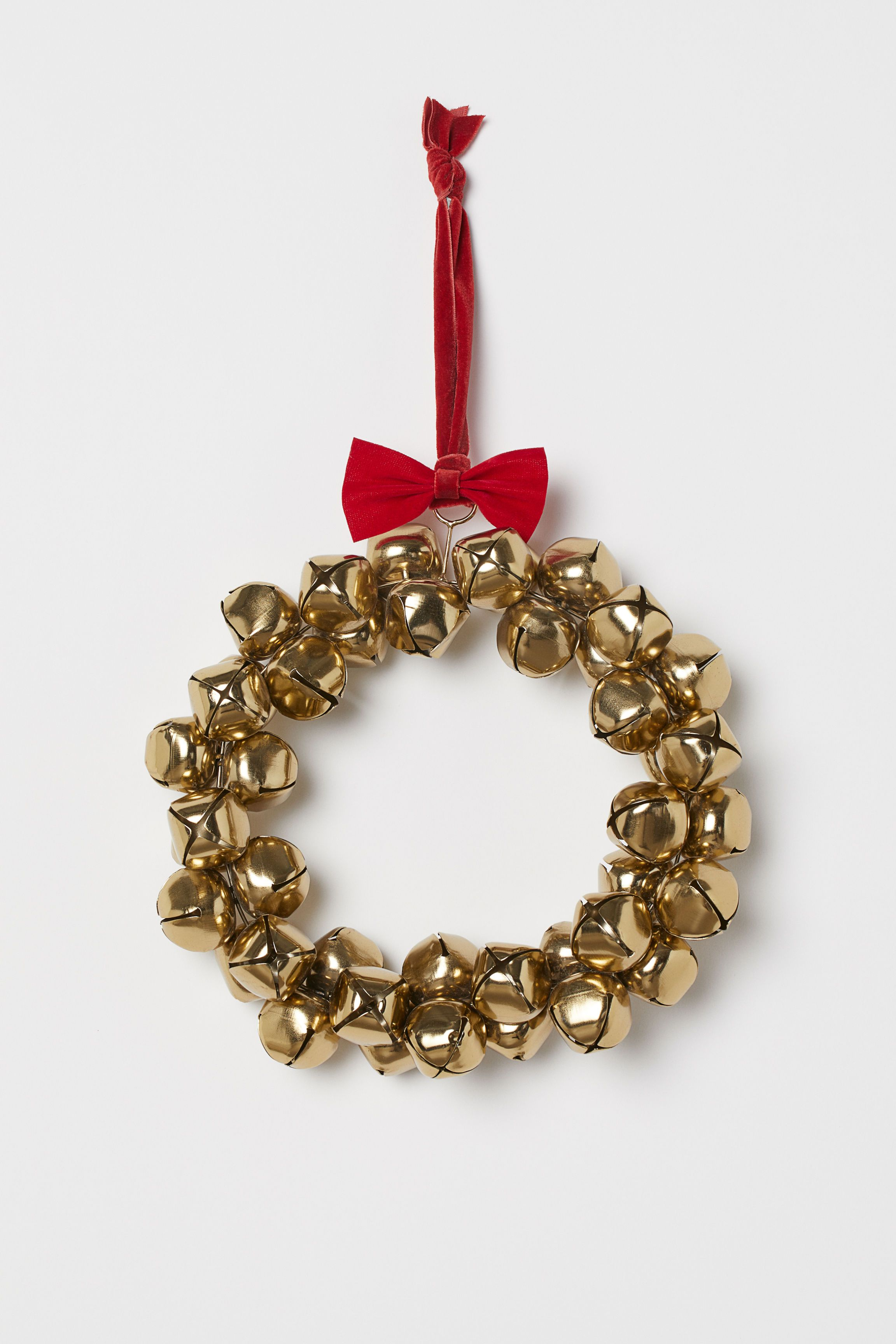 Christmas Ribbon Wreaths.Wreath With Bells