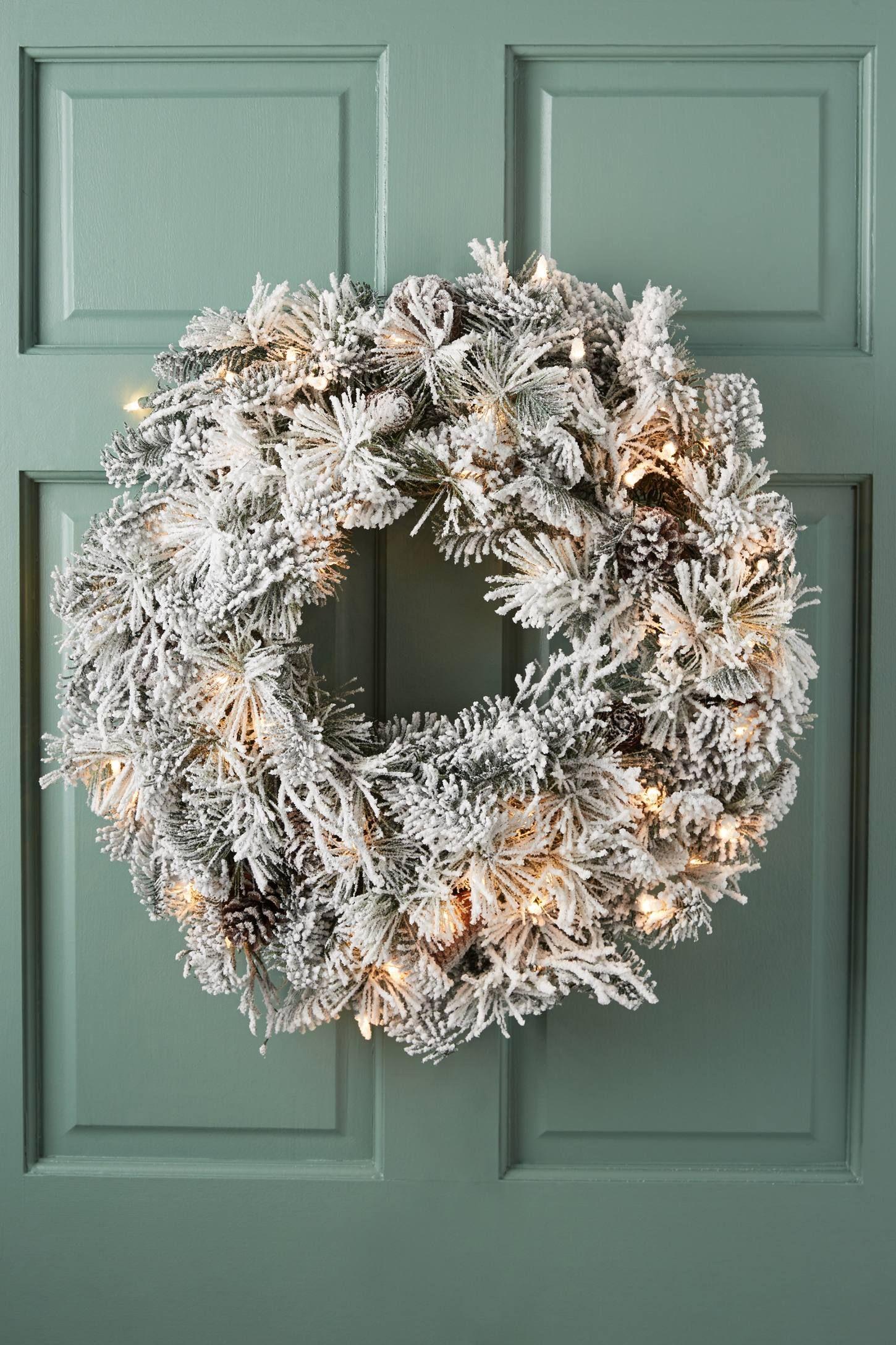 Anthropologie. Snowy Pine Wreath