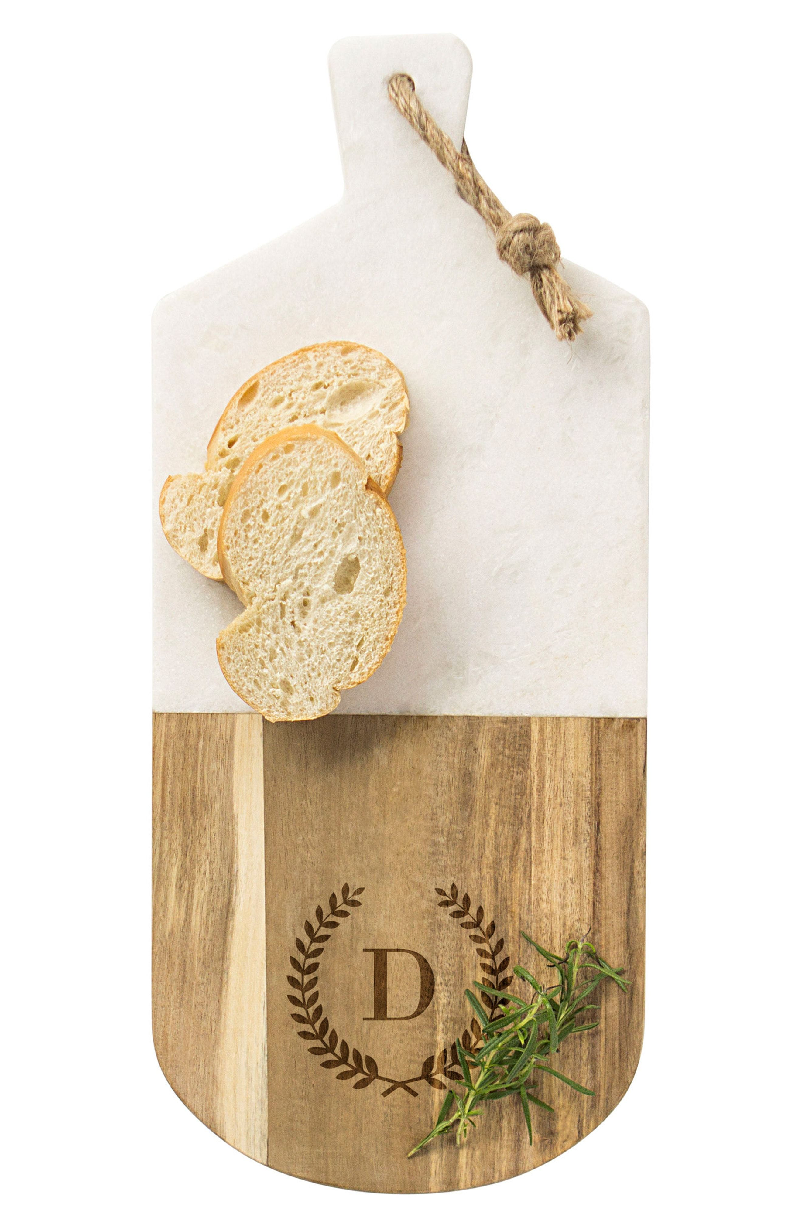 Monogram Marble & Wood Serving Board