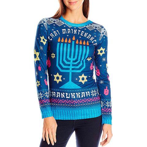 e35ea0b15 12 Best Ugly Hanukkah Sweaters for 2018 - Funny Hanukkah Sweaters ...