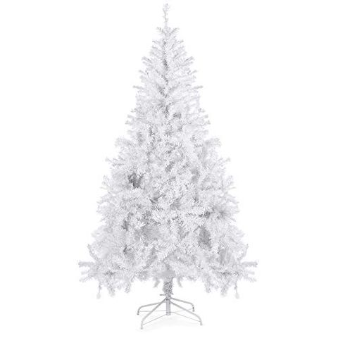 1 of 9 best choice products 6 foot premium hinged artificial white christmas tree