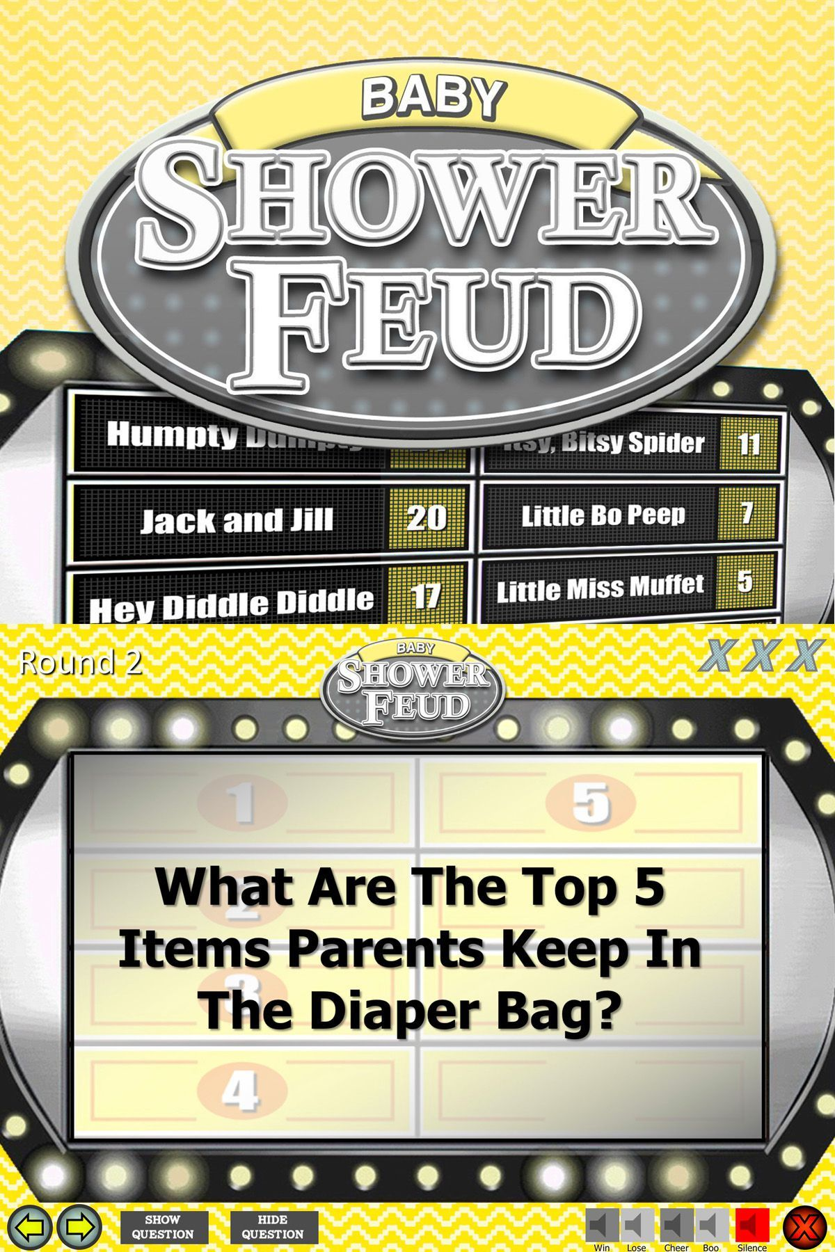 Easy Family Feud for Floor or Friends Programming ideas