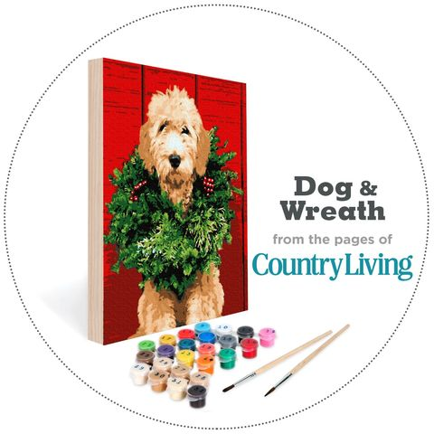 Dog Wreath Paint By Number Kit