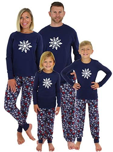 a1d03977ef Sleepyheads Holiday Family Matching Winter Navy Snowflake Pajama PJ Sets