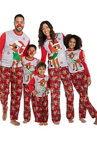b22033b03e Rudolph the Red Nosed Reindeer Christmas Holiday Family Sleepwear Pajamas