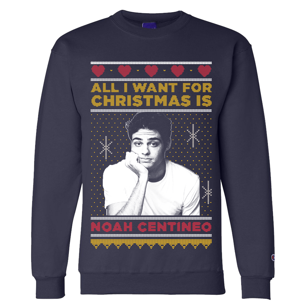 03c707bc51d1 Where to Buy the Noah Centineo Christmas Sweater – Noah Centineo ...