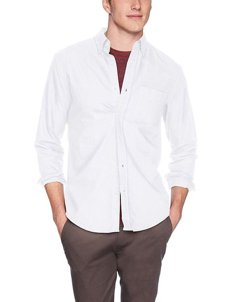 d707136efea9fd Slim-Fit Long-Sleeve Solid Oxford Shirt. J.Crew Mercantile amazon.com